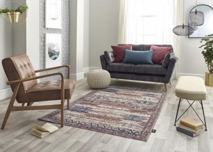 Alhambra Rug 6576a Ivory Red