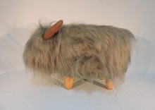 Georgette The Grey Highland Cow Footstool