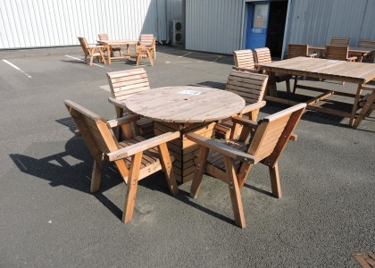Clearance Dales Circular Set Table and 4 Chairs