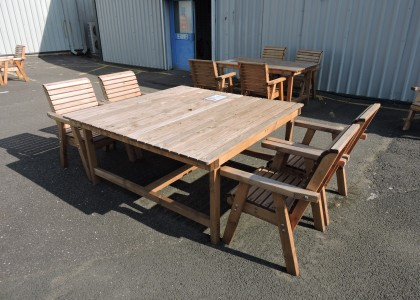 Clearance Dales Square 150cm Table and 4 Chairs