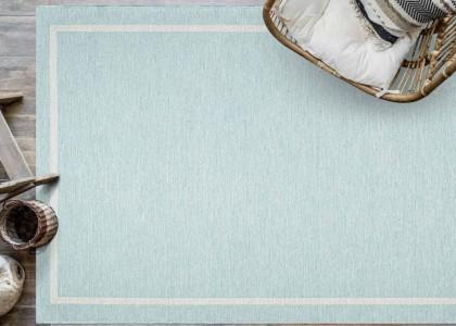 Newquay 96027 5013 Pastel Blue Rug