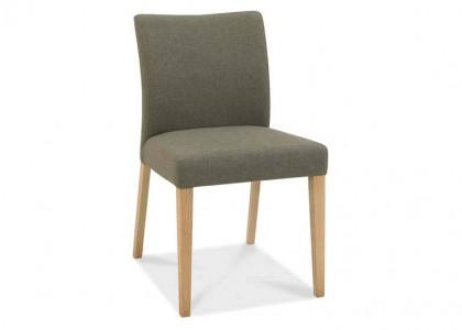 Bergen Oak Upholstered Chair - Black Gold Fabric (Pair)