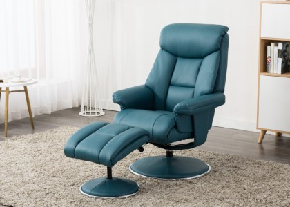 Biarritz Swivel Chair and Footstool
