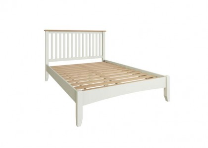 Gala Double Bed Frame - White